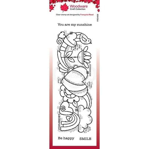 Heart Border Woodware Clear Stamp (FRS408)
